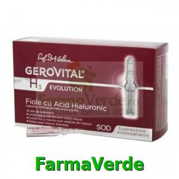 Fiole cu acid hialuronic 10fioleX10ml Gerovital H3 Evolution