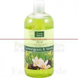 FRESH JUICE Gel de dus cu ulei de lemongrass,vanilie UFJ52