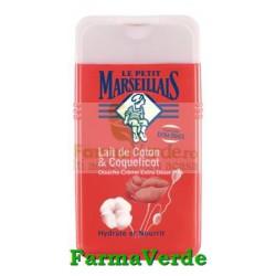 Gel de Dus Lapte de Bumbac si Mac 250 ml Le Petit Marseillais