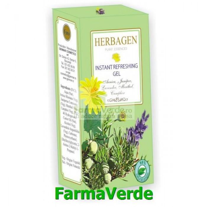 Gel Revigorant Picioare Obosite Instant BIO 50gr Herbagen
