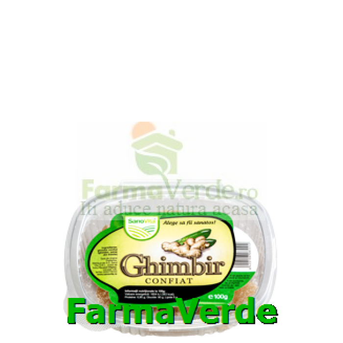 Ghimbir Confiat 100 gr SANO VITA