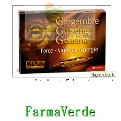 Ghimbir Ginseng Guarana 20 fiole Yves Ponroy