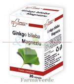 Ginkgo Biloba + Magneziu 30 cps FarmaClass