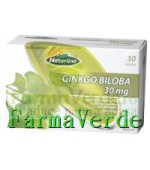 Ginkgo Biloba 30 mg+Vitamina E 10 mg 30Tb Naturline Walmark