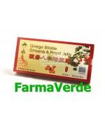 Ginkgo Biloba Ginseng & Royal Jelly 10 Fiole Sanye L&L Plant