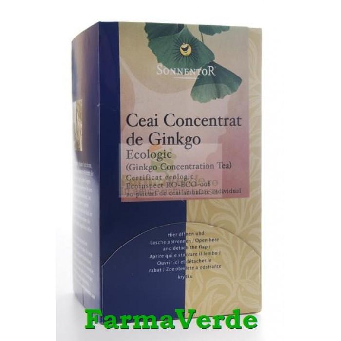 Ceai Concentrat Ginkgo BIO 20 dz Sonnentor