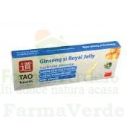 Ginkgo Biloba + Ginseng + Royal Jelly 10 fiole Tao Health