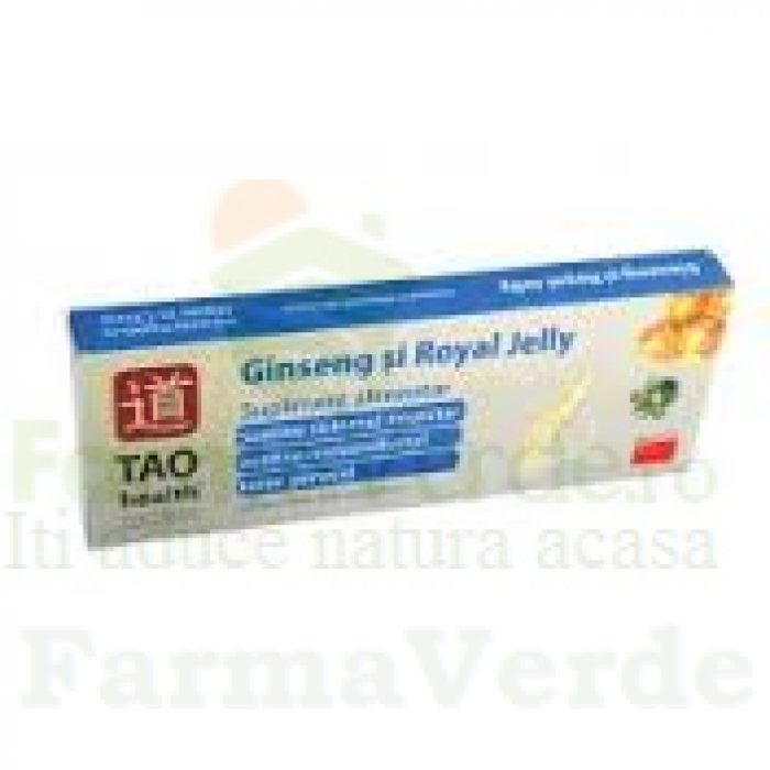Ginkgo Biloba + Ginseng + Royal Jelly 10 fiole Tao Health