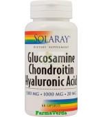 Glucosamine Chondrotin Acid Hyaluronic 60Cps Solaray Secom