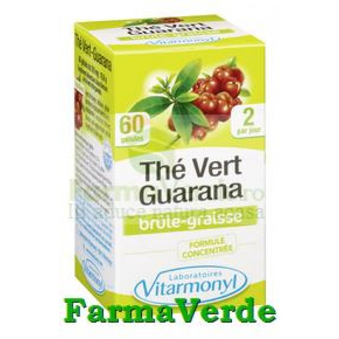Ceai verde si Guarana 60 capsule Vitarmonyl
