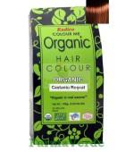 Henna Organic Vopsea de Par din Plante CASTANIU ROSCAT 100 gr