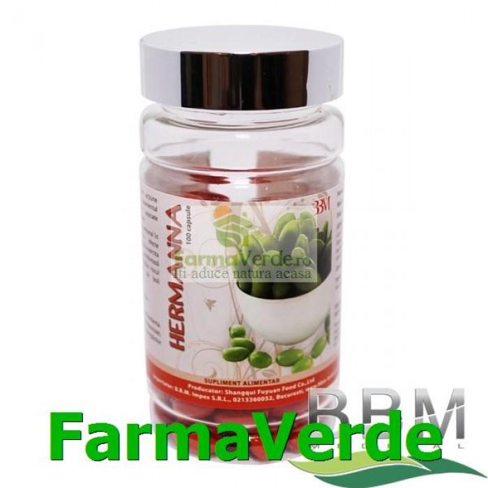 Hermana Soybean isoflavone Vitamina E din Soia 100 cps BBM