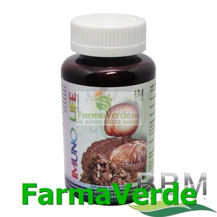 Imunolife 100capsule 4 Ciuperci puternic imunostimulatoare BBM Medical