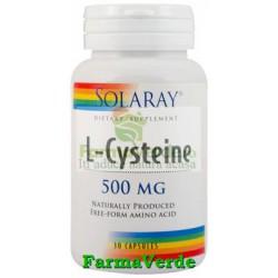 L-CYSTEINE 500mg 30 capsule Solaray Secom