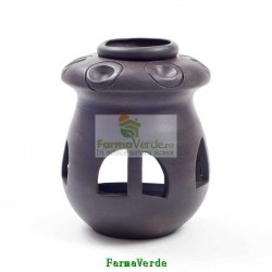 Lampa Candela Ciuperca Neagra Ceramica Vitos