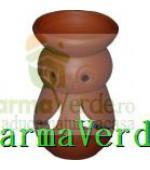 Lampa Candela Bufnita Rosu Ceramica Vitos