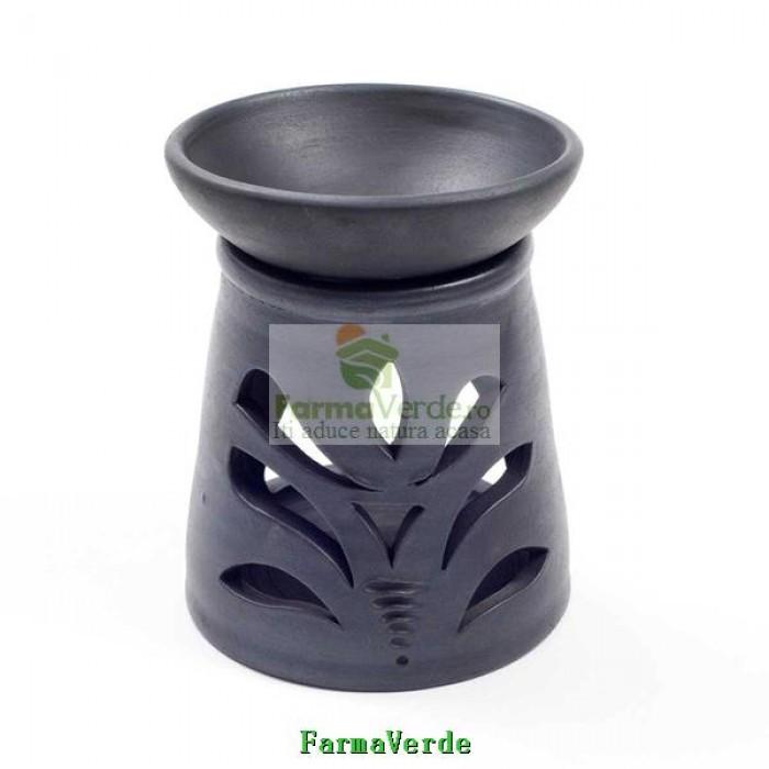 Lampa Candela Lalea Neagra Ceramica Vitos