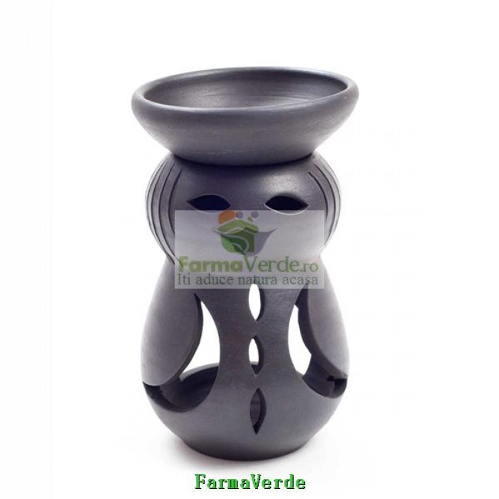 Lampa Candela Fetita Negru Ceramica Vitos