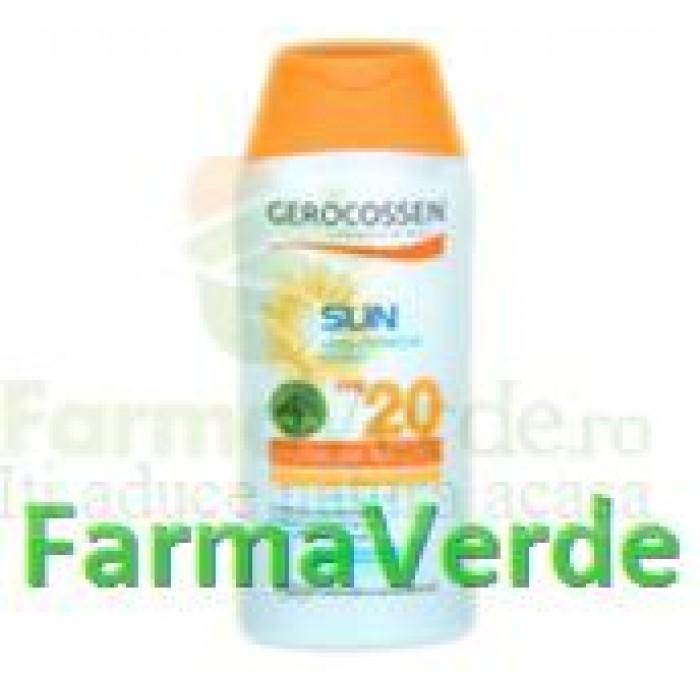 Gerocossen Lapte protectie solara Ulei de Argan SPF 20 250 ml