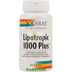 Lipotropic1000 Plus 100 Capsule Slabire-Colesterol Solaray Secom