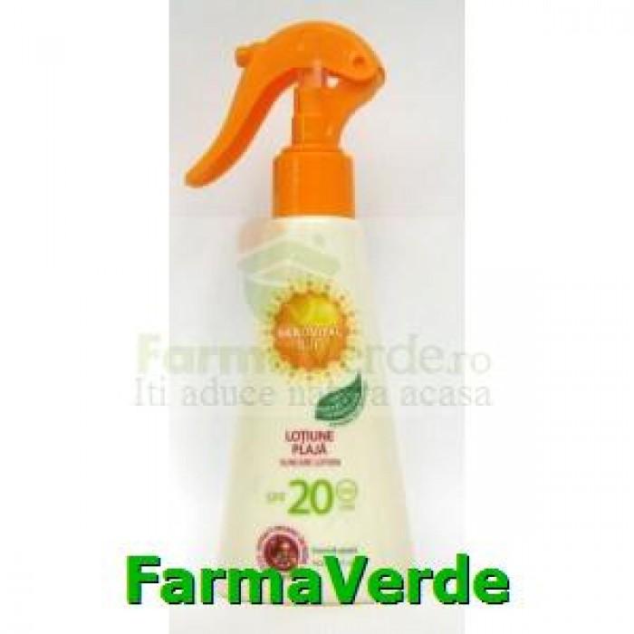 Lotiune plaja 150ml SPF20 Gerovital Sun Farmec