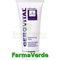 Masca crema semigrasa regeneranta 100ml Gerovital H3 Farmec