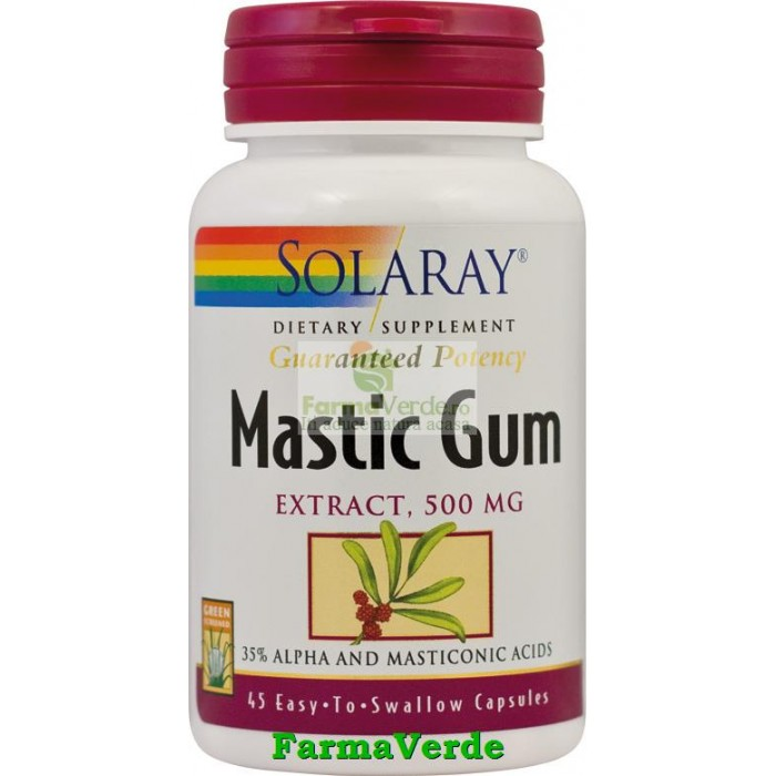 Mastic Gum 45 Cps (afectiuni digestive) Solaray Secom
