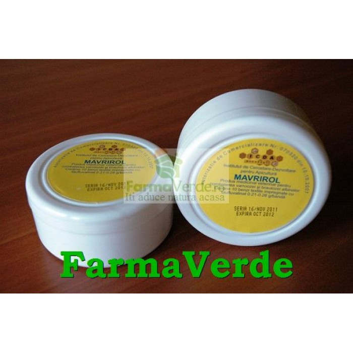 Mavrirol Produs Medicinal Veterinar pentru Albine 10 benzi