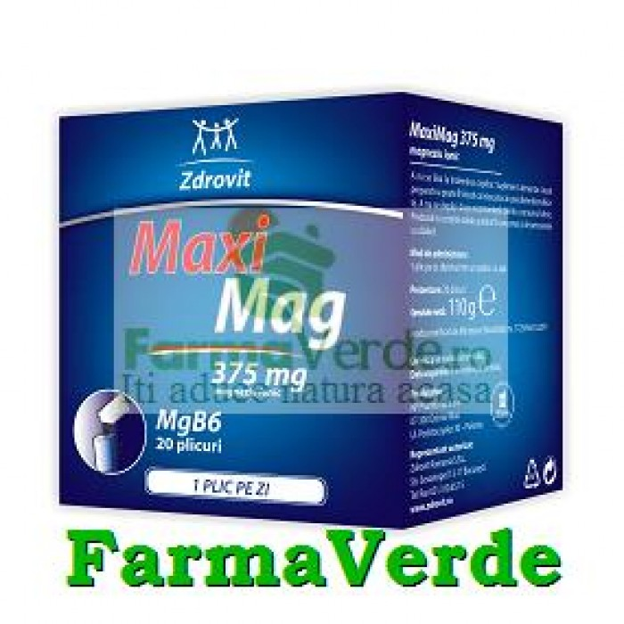 Zdrovit MaxiMag 375 mg 60 doze (2 luni administrare)