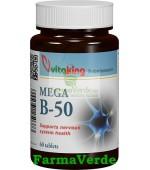 Mega B-50 Complex de Vitamine 60 comprimate Vitaking