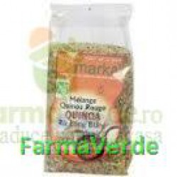 Melanj de Quinoa si Orez Alb cu bobul lung Vijaya 500 gr MDS