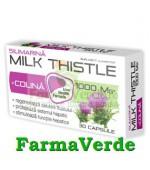 Zdrovit Milk Thistle + Colina Ficat 30 capsule