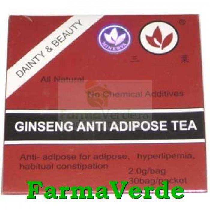 Ceai Antiadipos cu Ginseng 30 doze Minerva
