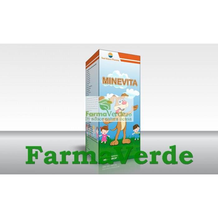 MineVita Sirop 200 ml (Minerale si Vitamine Copii) Sun Wave