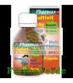 Sirop MULTIVIT BABY Multivitamine si Propolis 100 ml Pharmex