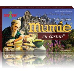 Mumie cu Castan extract purificat de rasina 30 comprimate Damar