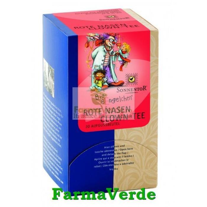 Ceai de Fructe Ingerasii Strengari Nasuc Rosu 20 dz Sonnentor
