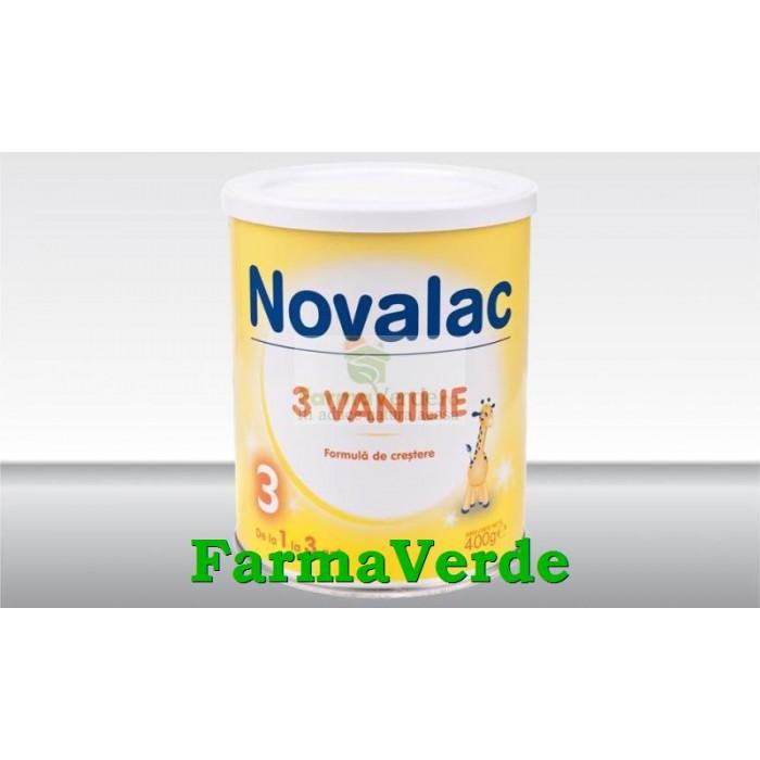 Novalac 3 Vanilie Lapte praf de la 1 la 3 ani Sun Wave Pharma
