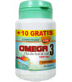 PROMO! Omega 3 Ulei Ficat de Cod 30 capsule+10 cps GRATIS!