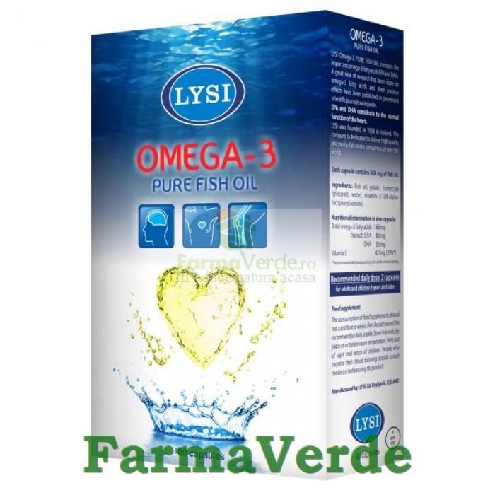 Omega 3 Ulei din Ficat de Cod 80 capsule Lysi Saga Sanatate