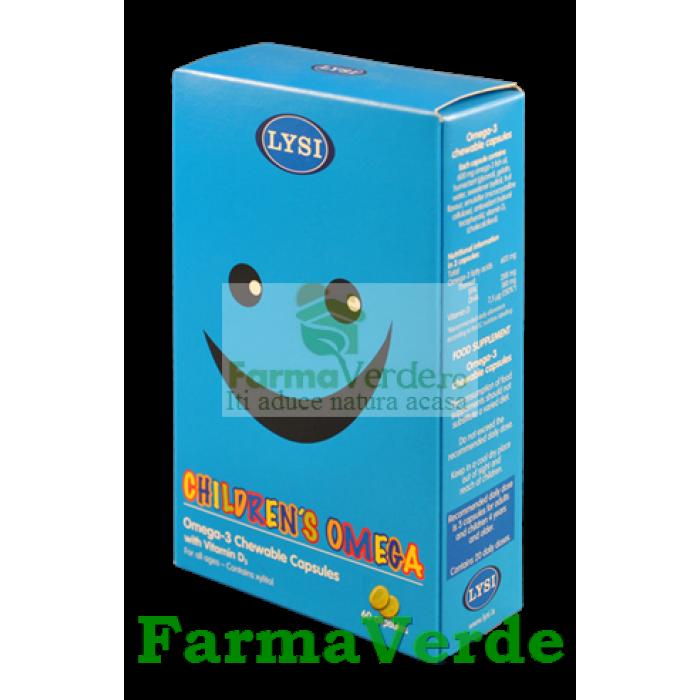 Omega 3 Masticabil cu Vitamina D3 60 capsule Lysi Saga Sanatate