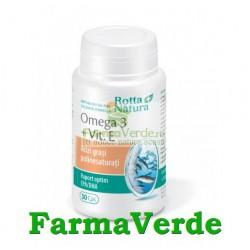 Omega 3+Vitamina E 90 capsule Rotta Natura