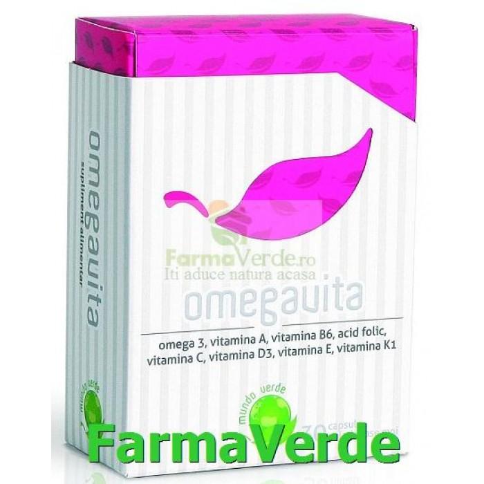 OMEGAVITA vitamine pentru toti 30 cps Mundo Verde Laropharm