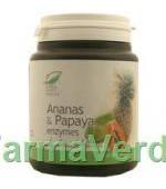 Ananas & Papaya enzymes 100 comprimate Medica ProNatura