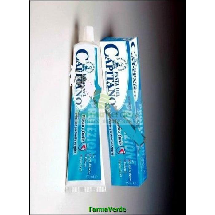 Pasta contra placii bacteriene si cariilor dentare 75ml Capitano