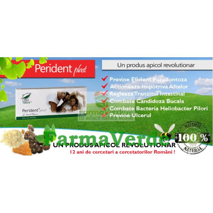 Perident Plast 10 plasturi masticabili Medica ProNatura