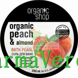 Perle de baie Piersica si migdale regenerare OS45 Organic Shop