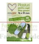 Plasturi pentru copii STAY GREEN 20 bucati Easy Care