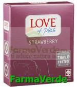 Love Plus Strawberry Prezervative 3 bucati