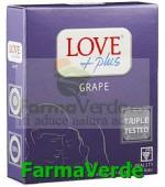 Love Plus Grape Prezervative 3 bucati